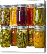 Homemade Preserves And Pickles Canvas Print