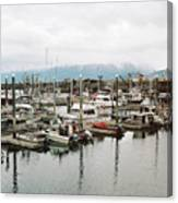 Homer Boat Dock Canvas Print