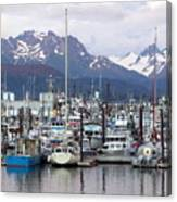 Homer Harbor Canvas Print