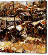 Homes In The Hills  Chaves Revine Canvas Print