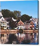 Homes On Kennebunkport Harbor Canvas Print