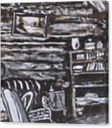 Homestead Interior Historical Vignette Canvas Print