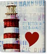 Hometown Bahamas Lighthouse Canvas Print