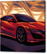 Honda Acura Nsx 2016 Mixed Media Canvas Print