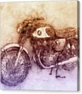 Honda Cb77 - Honda Motorcycles 2 - Motorcycle Poster - Automotive Art Canvas Print