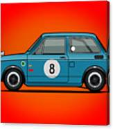 Honda N600 Blue Kei Race Car Canvas Print
