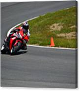 Honda Takes Turn 1 No 2 Canvas Print