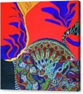 Honey Love With A Mermaid Canvas Print