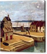Honfleur  Houses On The Quay Canvas Print
