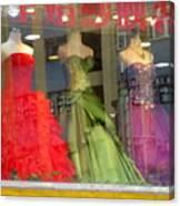 Hong Kong Dress Shop Canvas Print