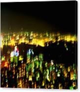 Hong Kong Harbor Abstract Canvas Print