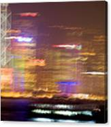 Hong Kong Harbor Abstracted Canvas Print