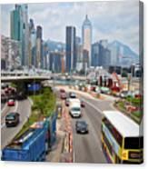 Hong Kong Traffic II Canvas Print