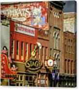 Honky Tonk Row - Nashville Tn Canvas Print