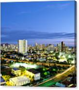 Honolulu City Lights Canvas Print