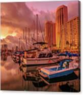 Honolulu Waterfront Oahu Canvas Print