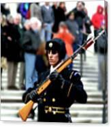 Honor Guard At Arlington Cemetery Canvas Print