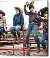 Honoring A Fallen Cowboy Canvas Print