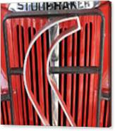 Hood And Grill Badge Canvas Print