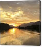 Hood River Golden Sunset Canvas Print