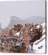 Hoodoos In Snow Canvas Print