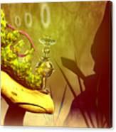 Hookah Smoking Caterpillar Canvas Print
