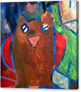 Hoots The Fall Owl Canvas Print