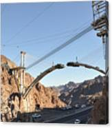 Hoover Dam Bypass Highway Under Construction Canvas Print