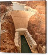 Hoover Dam Scenic View Canvas Print