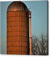 Hoover Pumps Atop Silo Canvas Print