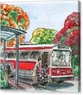 Hop On A Bus Canvas Print
