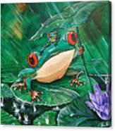 Hoppin' In The Rain Canvas Print