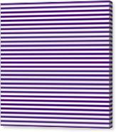 Horizontal White Outside Stripes 30-p0169 Canvas Print