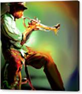 Horn Player II Canvas Print