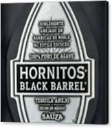 Hornitos Black Barrel Tequila Label Canvas Print