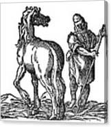 Horse & Groom Canvas Print