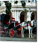 Horse And Buggy In Havana Canvas Print