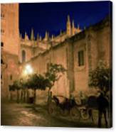 Horse And Carriage Seville Spain Canvas Print