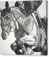 Horse And Jockey Canvas Print