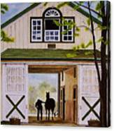 Horse Barn Canvas Print
