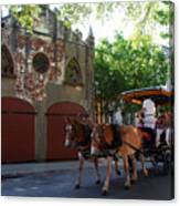 Horse Carriage At Kings Street Canvas Print