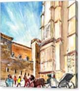 Horse Carriages In Palma De Mallorca Canvas Print