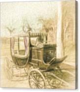 Horse Drawn Funeral Cart  Canvas Print