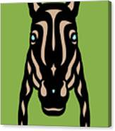 Horse Face Rick - Horse Pop Art - Greenery, Hazelnut, Island Paradise Blue Canvas Print