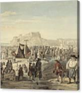 Horse Fair On Bruntsfield Links, Edinburgh Canvas Print