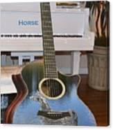Horse Guitar Canvas Print