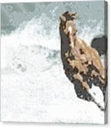 Horse In The Storm - Parallel Hatching Canvas Print