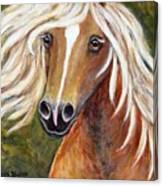 Horse Painting Blondie Canvas Print