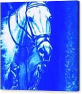 Horse Painting Jumper No Faults Aquamarine Canvas Print