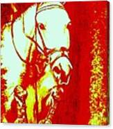 Horse Painting Jumper No Faults Red And White Canvas Print